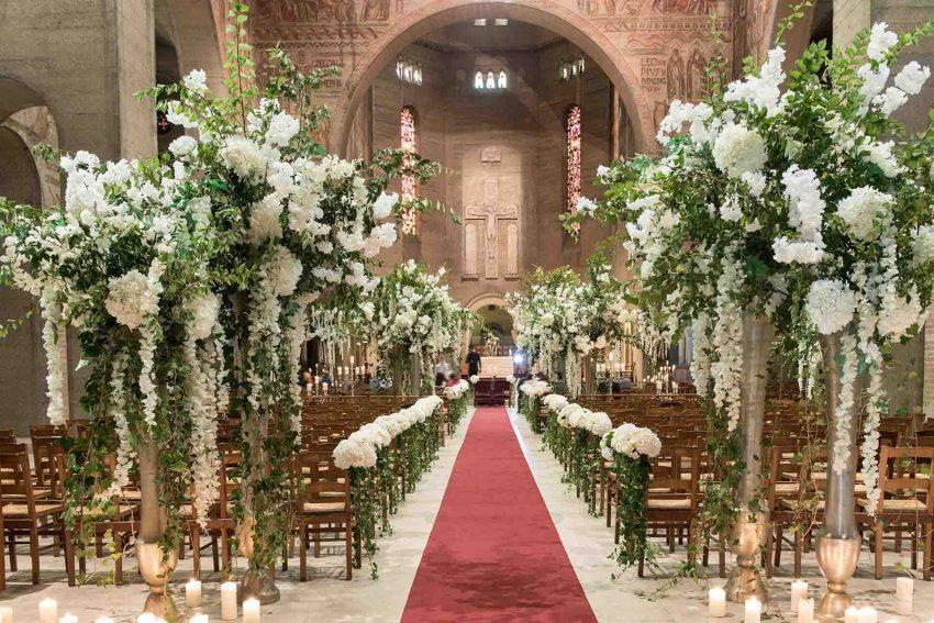 mariage décoration église